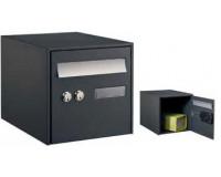 Boîte à colis @BOX 300 Simple face, Noir