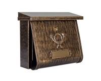 Boîte aux lettres MULTI avec compartiment journal, Bronze