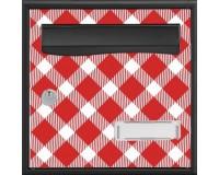 Boîte aux lettres Stylis Carreaux rouges