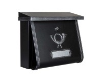 Boîte aux lettres MULTI avec compartiment journal, Noire