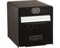 Boîte aux lettres normalisée BALnéaire 2 portes, porte arrière vitrée, Noir