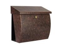 Boîte aux lettres Krosix avec compartiment à journaux, Acier inoxydable brun or