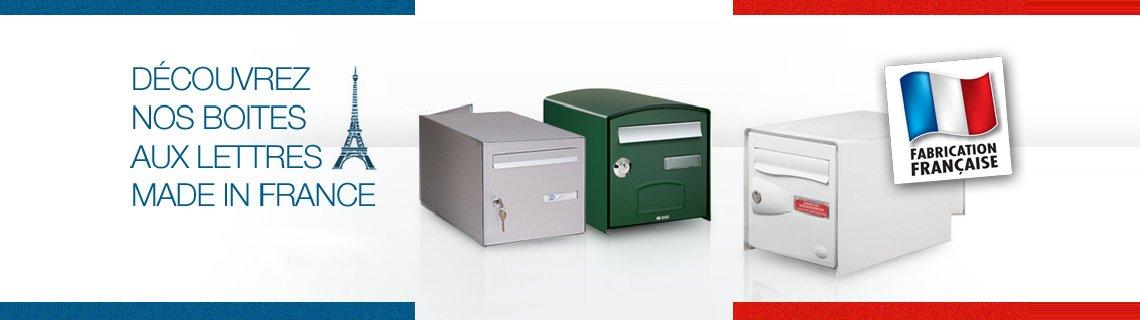 Les boîtes aux lettres fabrication française